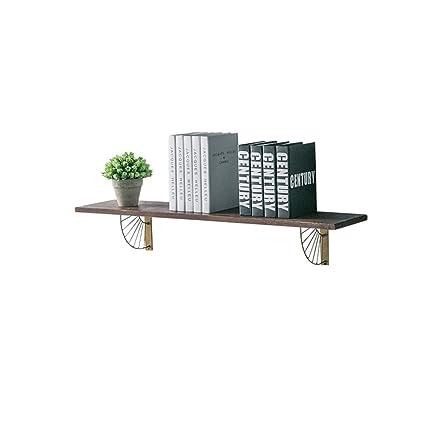 e8fe94e1b0ce HQQ Estante de pared Estantería Hierro de madera para sala de estar  Dormitorio Pantalla decorativa flotante