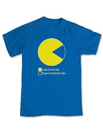 Pac Man Pie Chart Gaming T Shirt Royal Blue 2xl Amazon