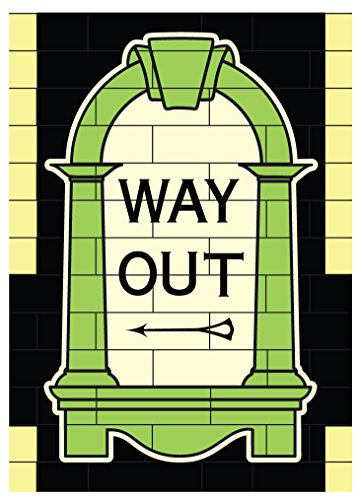 Way Out London Tube Sign Magnet - London Tube Sign