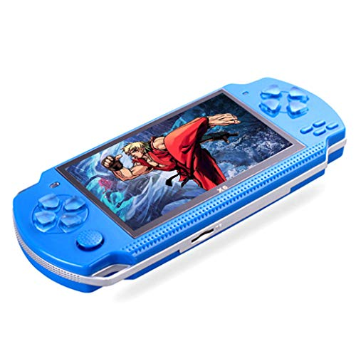 Cocal Portable Handheld Retro Game Console with Built-in 500 Classic Games, 8GB 4.3Inch Screen Video Game Console (Blue) (Console Component)