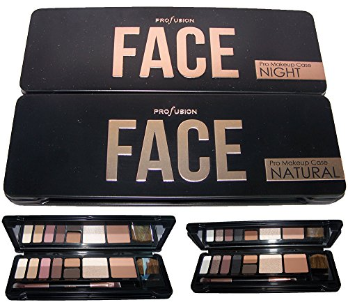 Profusion Cosmetics 8 Color Face Eye Shadow Palette Natural Or Night (COSFACE) (Night)