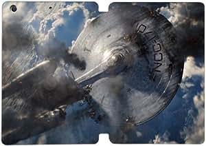 Cubierta de cuero y caja de la PC funda / soporte para funda de Apple iPad Mini 4 funda Con Magnetic reposo automático Función de despertador DIY por Star Trek Into Darkness N4Q8Gd1R3Qq