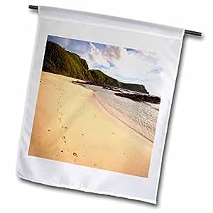 Danita Delimont - Footprints - Footprints, Yasawa Island Resort and Spa, Fiji - OC01 DPB0464 - Douglas Peebles - 18 x 27 inch Garden Flag (fl_84845_2)