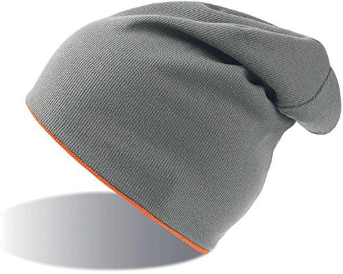 Hi Jersey Vis Orange Grey Slouch Extreme Reversible Beanie Atlantis YPOqfF1x