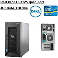 2017 Newest Edition Dell PowerEdge T20 High Performance Mini Tower Desktop, Intel Xeon Quad Core (3.2 GHz), 4GB RAM, 1TB HDD, NO Operating System