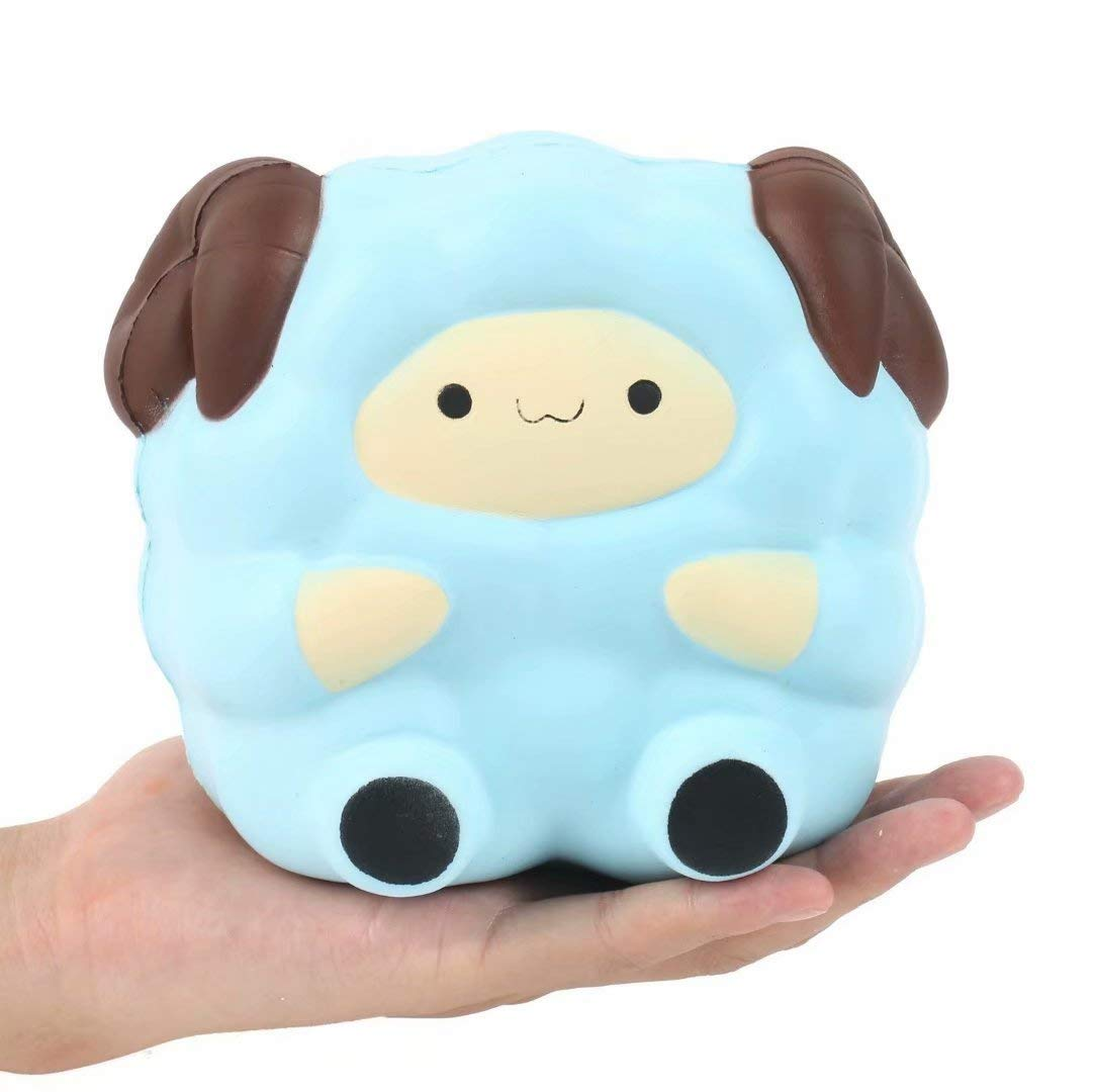 AOLIGE 5.2'' Jumbo Squishies Kawaii Blue Lamb Cream Scented Slow Rising Decompression Squeeze Toys Children Simulation Cute Sheep Toys