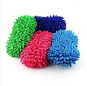ShungHO 1 PC Sponge Pad Car Vehicle Care Cleaning Tool Washing Brush Random Color