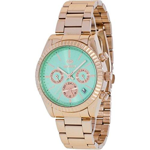 Reloj Marea Mujer B41155/12 Metal Rosado Multifunción Verde Agua