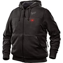 Milwaukee Jacket M12 12V Lithium-Ion Heated Hoodie Front and Back Heat Zones All Sizes and Colors - Hoodie Only - (Small, Black)
