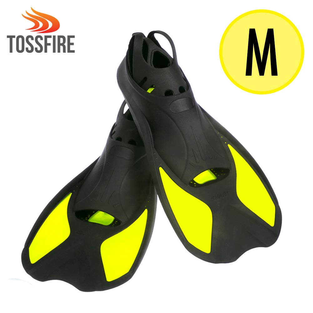 Blue Swimming Fins Kids Short Diving Fins Training for Children Boy Girl size XXS Width Ankle 2.5 with Thermoplastic Rubber Pool Flipper for Diving Snorkeling Watersport