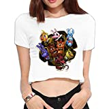 TLK Custom Women Five Nights At Freddy Midriff Tshirts