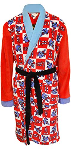 Underboss Men's SpongeBob's' Mr. Krabs Adult Plush Robe (Large/X-Large) Red]()