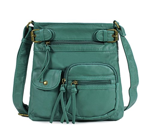Ladies Purse (Scarleton Accent Top Belt Crossbody Bag H183335 - Dark Turquoise)