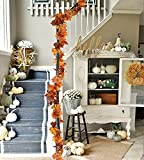 DearHouse 2 Pack Fall Garland Maple Leaf, Hanging