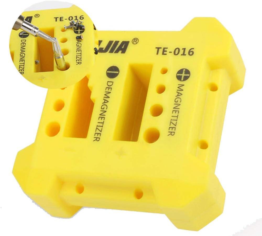 Magnetizador/desmagnetizador para magnetizar y desmagnetizar destornilladores, puntas y pequeñas herramientas magnéticas (113 x 113 x 22 mm).: Amazon.es: Bricolaje y herramientas