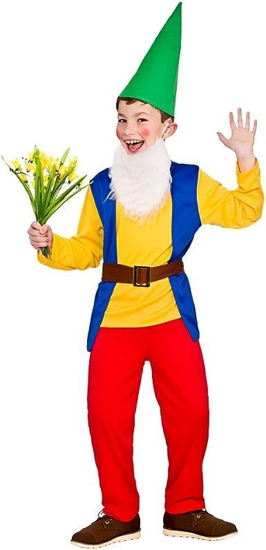 Disfraz Disfraz Disfraz de Gnomo de Jardín para Niños - Grande - 8 ...