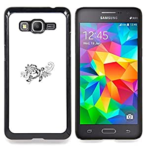 "Planetar ( Carta del alfabeto caligrafía floral inicial"" ) Samsung Galaxy Grand Prime SM-G530F G530FZ G530Y G530H G530FZ/DS Fundas Cover Cubre Hard Case Cover"