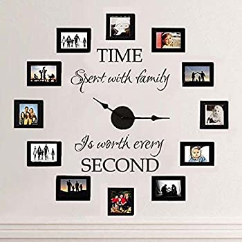 Amazon.com: Creative Wall Decor Collage Photo Frame Set with Clock ...