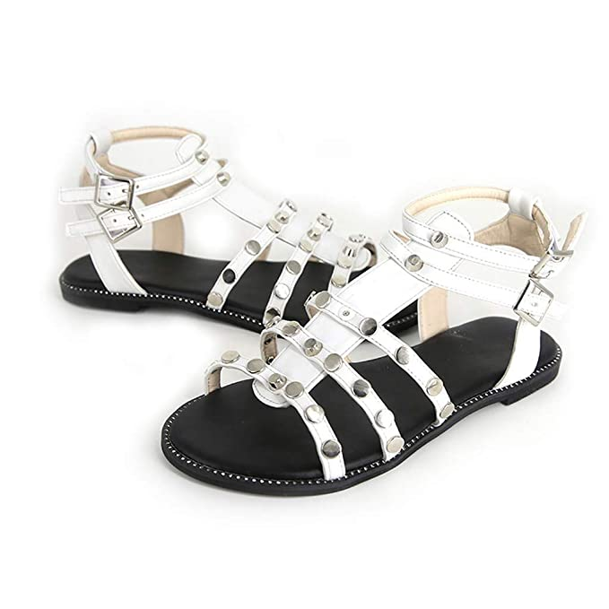Darringls_Sandalias de Primavera Verano Mujer,Sandalias Hebilla Remache Zapatos Lentejuelas Zapatillas Fondo Plano Casual Platform: Amazon.es: Ropa y ...