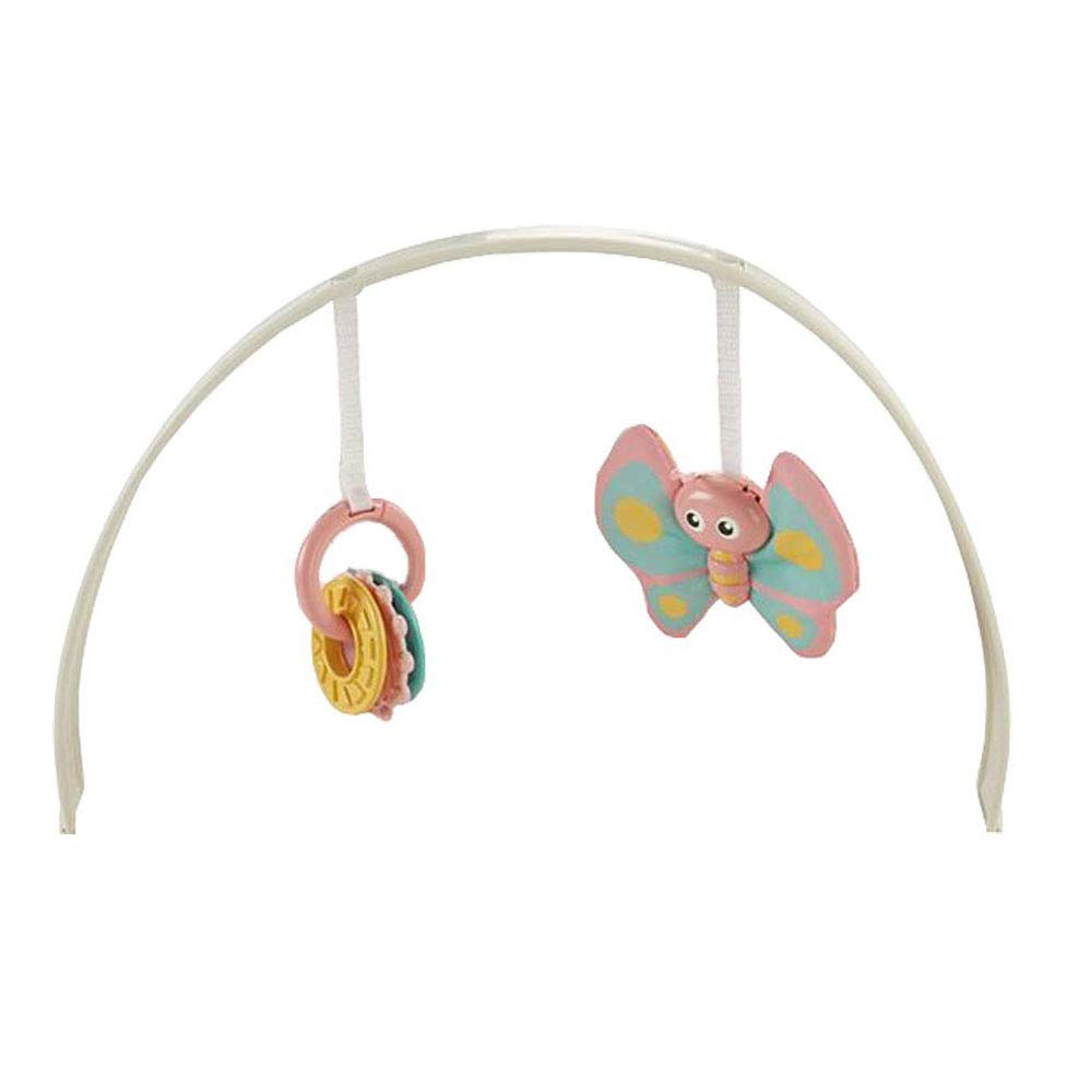 Replacement Parts for Bouncer - Fisher-Price Bouncer Seat Comfort Curve DTH05 ~ Includes Pink Butterfly Pastel Rings Toy Bar