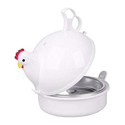 Cocedor de huevos para microondas, diseño de gallina, 4 huevos ...
