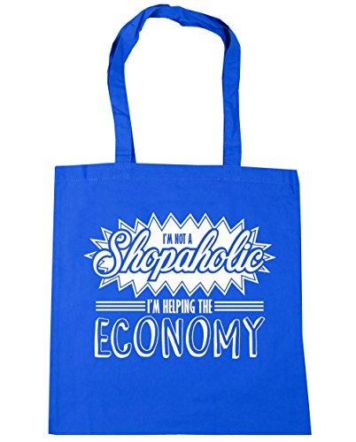Tote the Cornflower I'm a Beach Shopping 42cm Gym Not litres Bag HippoWarehouse Blue x38cm I'm Helping Shopaholic Economy 10 8q44YnF