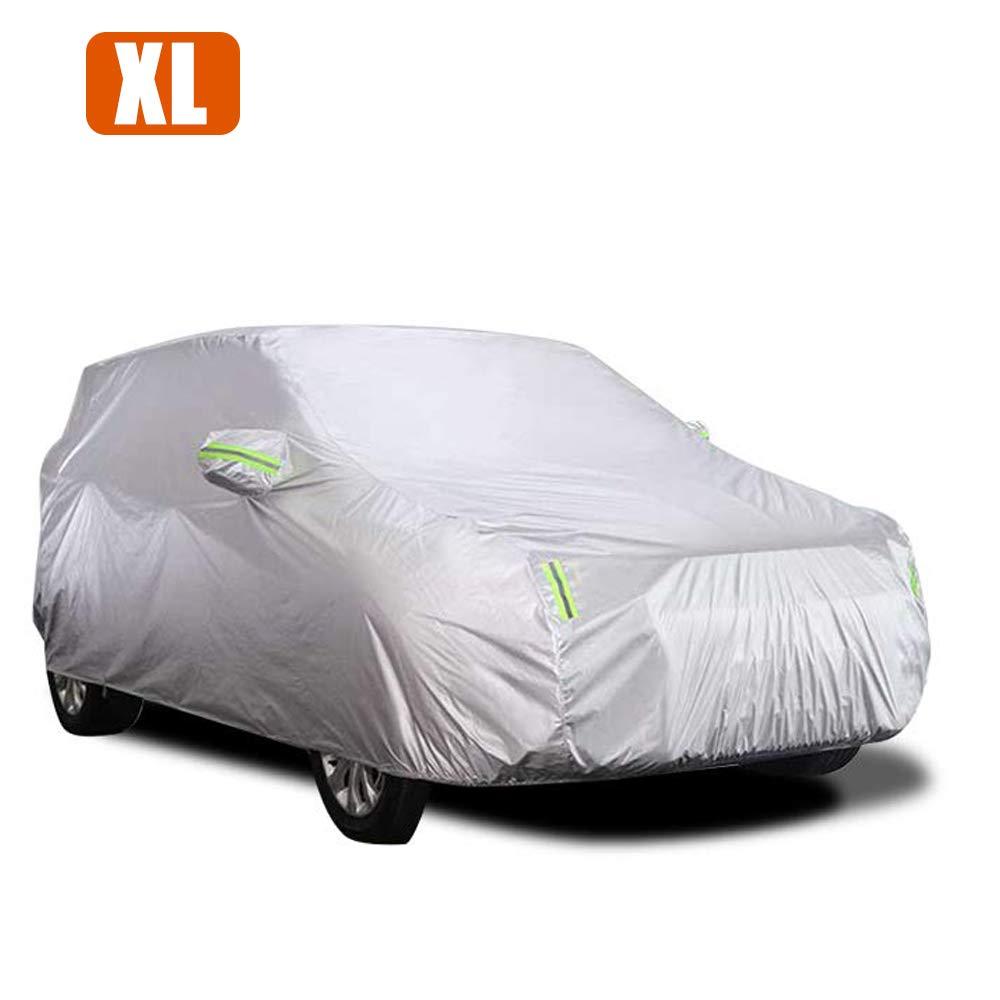 4,5 x 1,75 x1,5m Impermeable Resistente a los ara/ñazos KKmoon Funda para Coche Cubierta coche Exterior Antipolvo Funda Coche Exterior