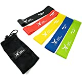 Cheap ARC fitness project LOOP resistance band set of 5 – Best Fitness Exercise Bands for Working Out or Physical Therapy – 12×2 Inches (5 Piece Set)