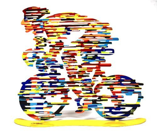 - David Gerstein Modern Art CHAMPION Bicycle Racer Metal Print Sculpture bike