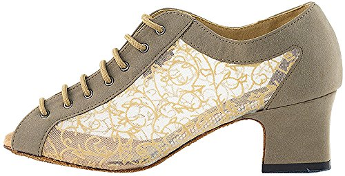 Womens Ballroom Dance Shoes Party Salsa Practice Shoes 1643EB Comfortable -Very Fine 2