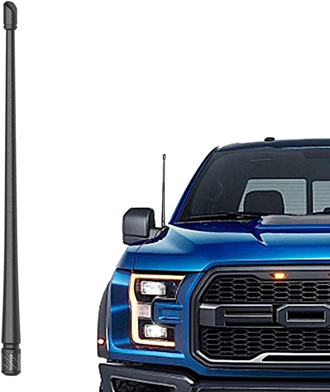 Flexible Rubber Replacement Mast Designed for Optimized FM//AM Reception fits for Ford F150 2009 10 11 12 13 14 15 16 17 18 19 2020 KSaAuto 8 Inch Antenna Compatible with Ford F150 2009-2020