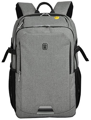 Travel Outdoor Computer Backpack Laptop Bag (Grey) - 7