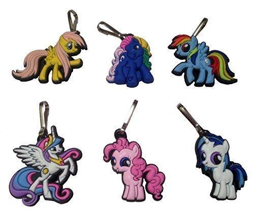 [Little Pony Snap Hook Zipper Pulls 6 Pcs Set #1] (Disney Tinker Bell Kids Sparkle Shoes)