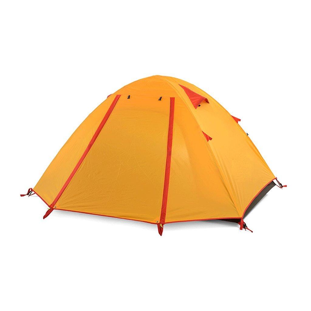TLMY Doppeltes Zelt im Freien doppeltes kampierendes Campingzelt Zelte (Farbe : Orange)