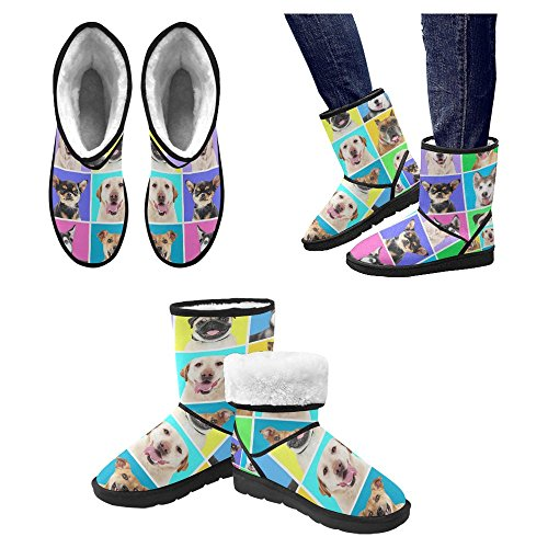 InterestPrint Womens Snow Boots Unique Designed Comfort Winter Boots Multi 21 g6nZ4X62H2