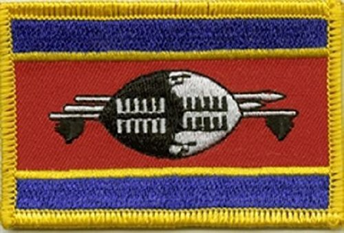 UB Aufnä her Swaziland Aufbü gler Patch 8 cm x 5 cm Neuware!!! unibuy.de