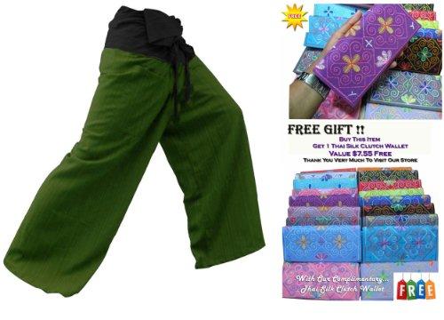 ST * * 2tono pescador Thai pantalones de yoga pantalones tamaño libre * * A la venta de rayas de algodón con diseño exclusivo * *