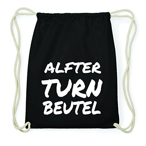 JOllify ALFTER Hipster Turnbeutel Tasche Rucksack aus Baumwolle - Farbe: schwarz Design: Turnbeutel va8eAjNlW
