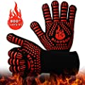BBQ Gloves 1472? Extreme Heat Resistant Gloves Grills, Cooking Gardening Oven Mitts, Oven Gloves, Silicone Insulated Grills Outdoor Cooking, Long Non-Slip Potholder Gloves