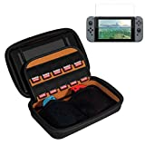 SUNKY - Nintendo Switch Bag with HD Screen Protector, 2017 Nintendo Switch Carrying Hard Case Cover Sleeve Travel Storage Wallet with 10 Game Cartridge HD Slim Screen Protector