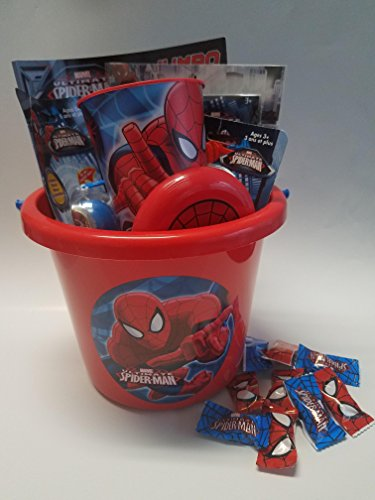 [Marvel Spiderman Toy Figure Gift Basket] (Peter Parker Costume Ultimate Spider Man)