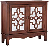 Monarch I 3846 Mirror Traditional Style Accent Chest, Dark Walnut