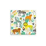 Daydream Society Into the Wild Jungle Animal Paper Party Napkins, Pack of 16