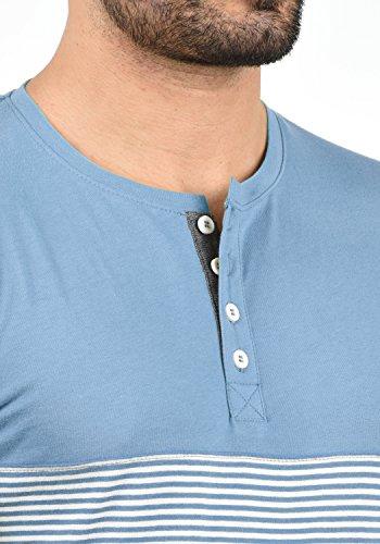 Blue solid T À shirt Homme Avec Manches 1025 Tunisienimprimé Motif Marte Col Sky Pour Longues OrqwO