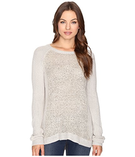 Brigitte Bailey Women's Amber Boucle Front Pullover Mocha Heather (Boucle Pullover)