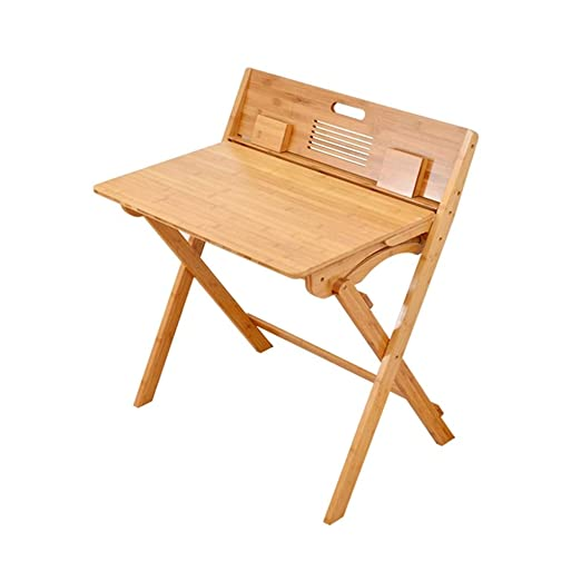 mesa plegable LITING Estudio de los niños Mesa de Madera de bambú ...
