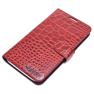 Neewer® Folio Alligator PU Leather Wallet Stand Case for Samsung Galaxy Note 2 II N7100 (Red)
