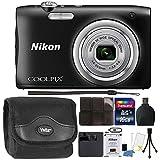 Nikon COOLPIX A100 20.1MP f/3.7-6.4 Max Aperture Compact Digital Camera Accessory Bundle Black