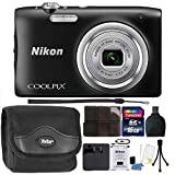 Nikon COOLPIX A100 20.1MP f/3.7-6.4 Max Aperture Compact Digital Camera Accessory Bundle Black