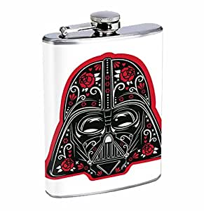 Vader Sugar Skull Sith Lord 8oz Stainless Steel Flask Drinking Whiskey